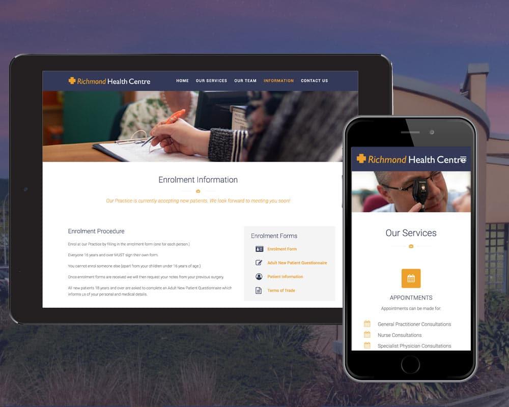 Web design Nelson - Richmond Health Centre Website