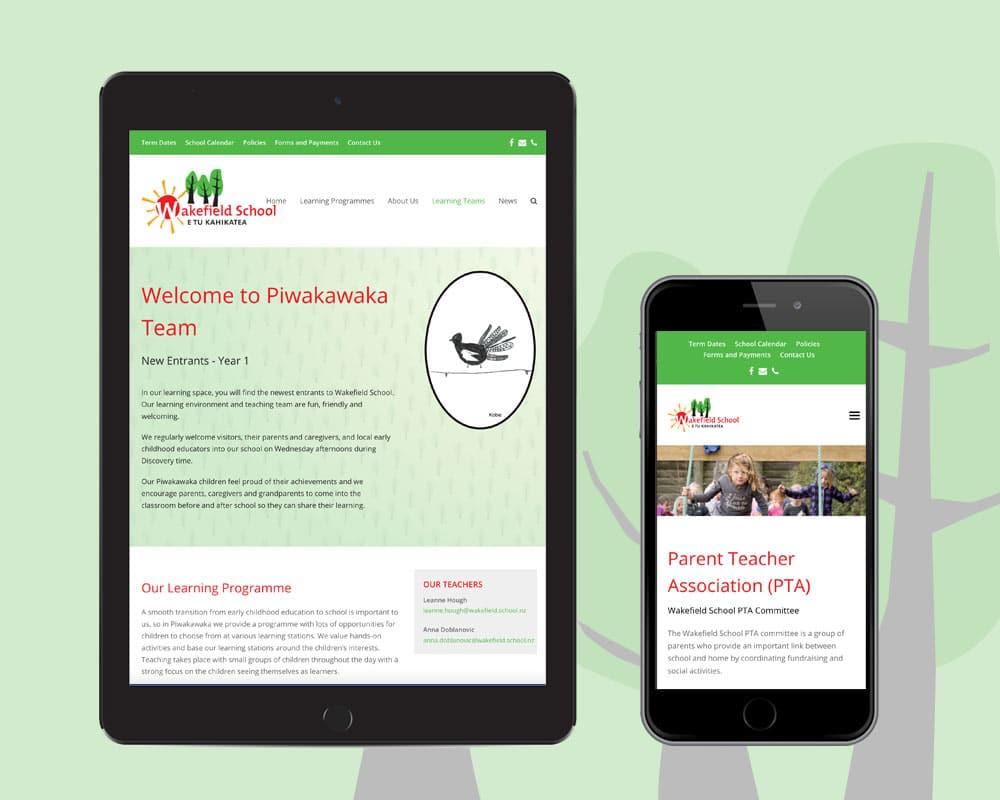 Web Design Nelson - Wakefield School Website