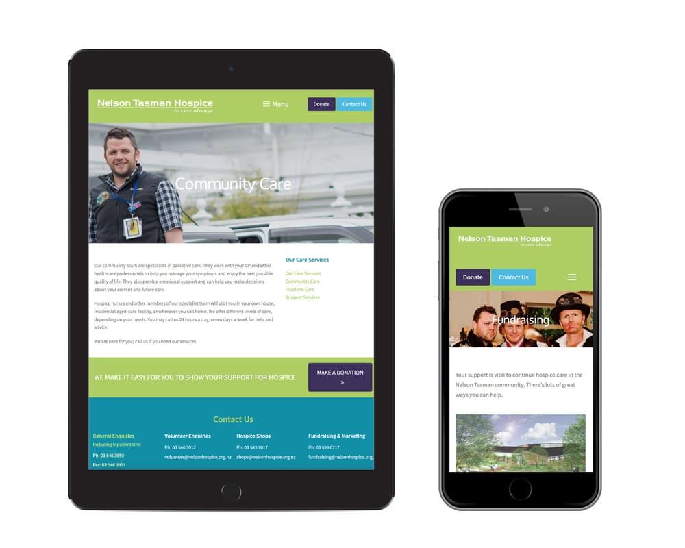 Web Design Nelson - Nelson Tasman Hospice Website