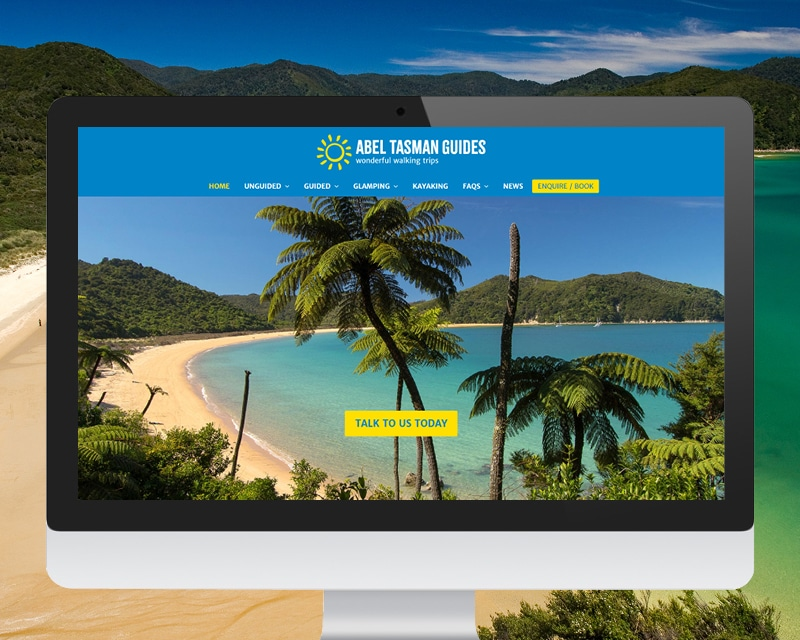 Abel Tasman Guides Website by Slightly Different Ltd