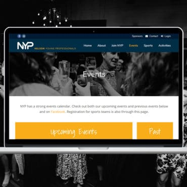 Nelson Young Professionals Website by Slightly Different Ltd
