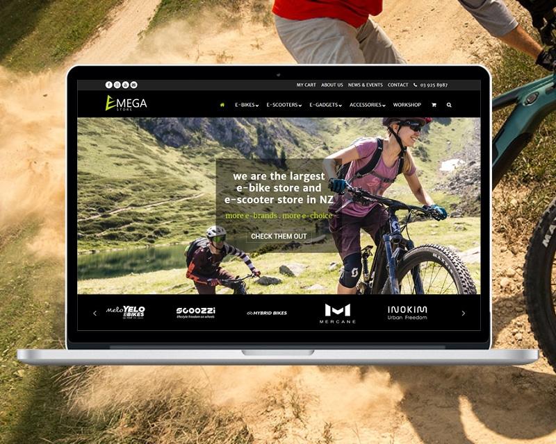 Image of eMega website designed by Slightly Different Ltd