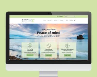 Image of Chapman ER website designed by Slightly Different Ltd