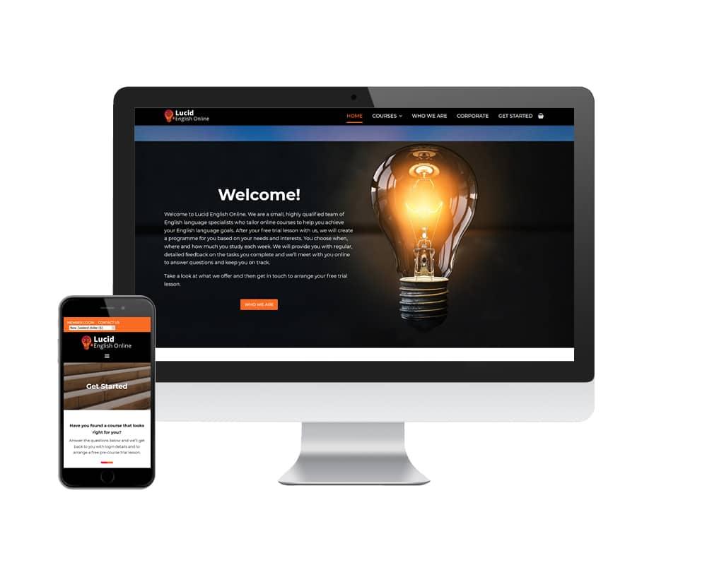 Image of Lucid English Online website designed by Slightly Different Ltd