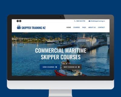 Image of Skipper Training NZ website designed by Slightly Different Ltd