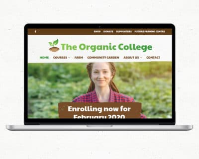 Image of The Organic College website designed by Slightly Different Ltd