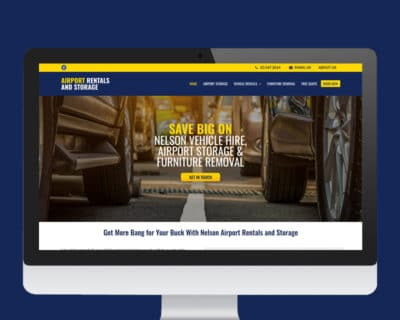 Image of Nelson Rentals and Storage Website designed by Slightly Different Ltd