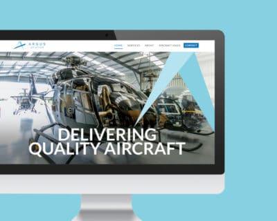 Image of Argus Aviation website designed by Slightly Different Ltd