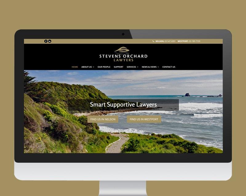 Stevens Orchard Lawyers website designed by Slightly Different Ltd