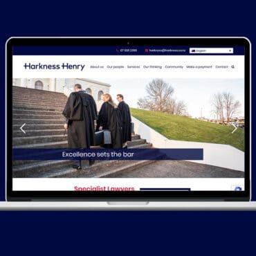 Image of Harkness Henry website design by Slightly Different Ltd