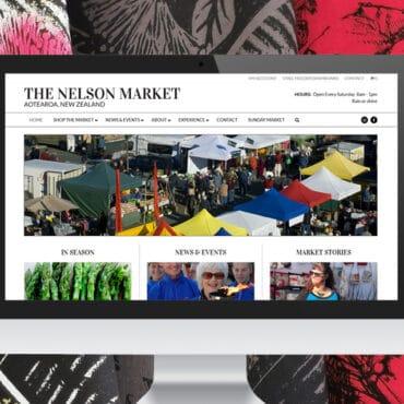 Nelson Market Website by Slightly Different Ltd