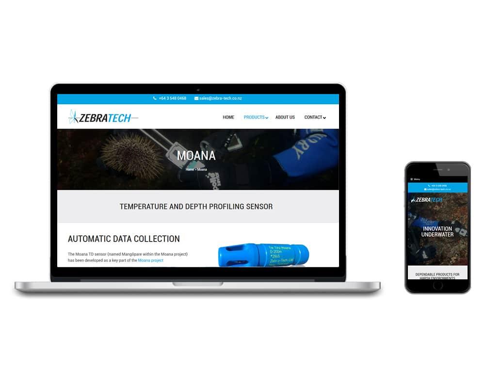 Zebratech website by Slightly Different Ltd